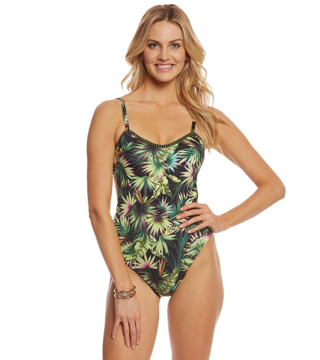 Lucky Brand Coastal Palms One Piece Swimsuit at SwimOutlet.com ... 3a03d9d1c