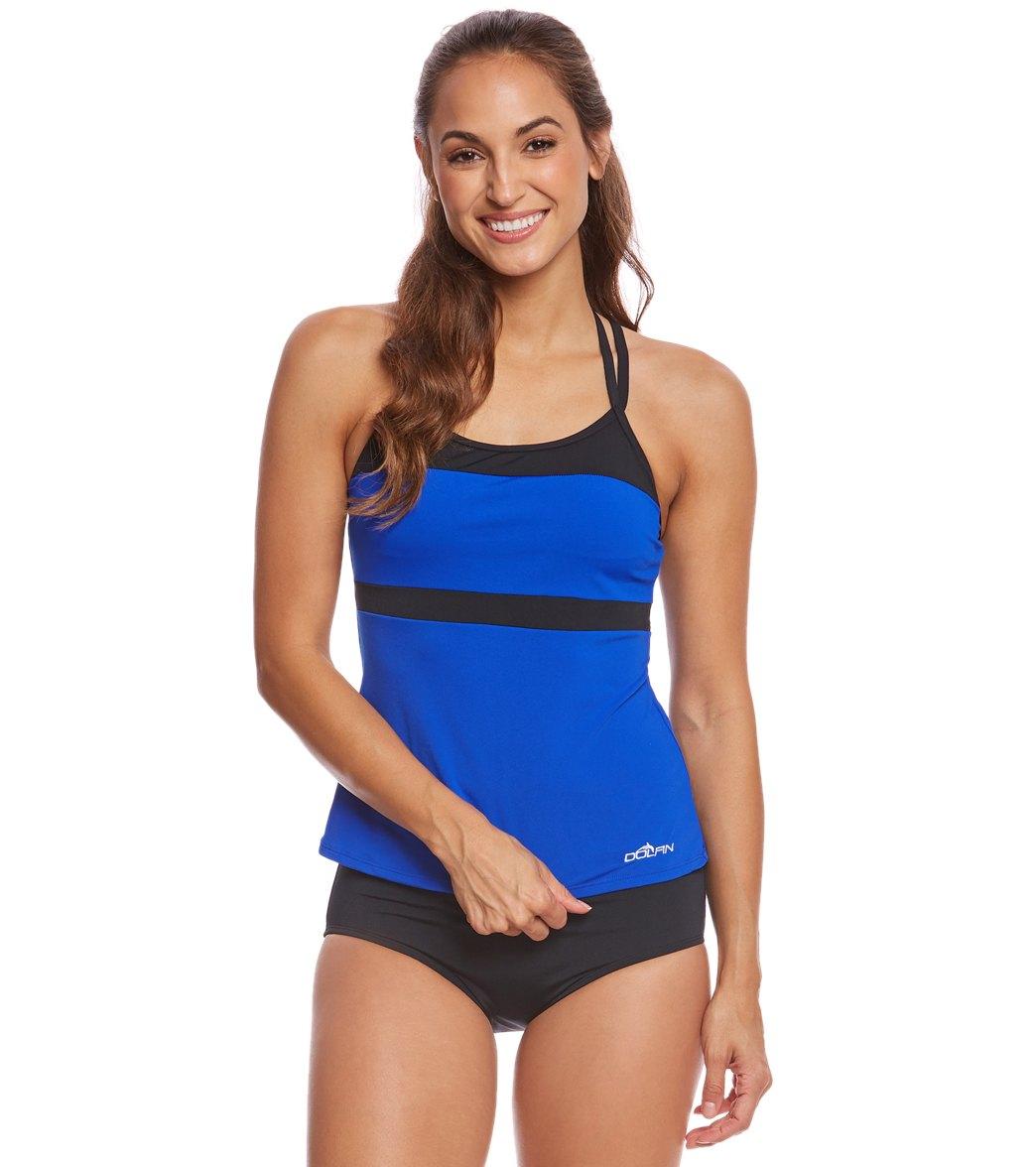 698c7bb4a9 Dolfin Aquashape Women's T-Strap Tankini Top at SwimOutlet.com - Free  Shipping