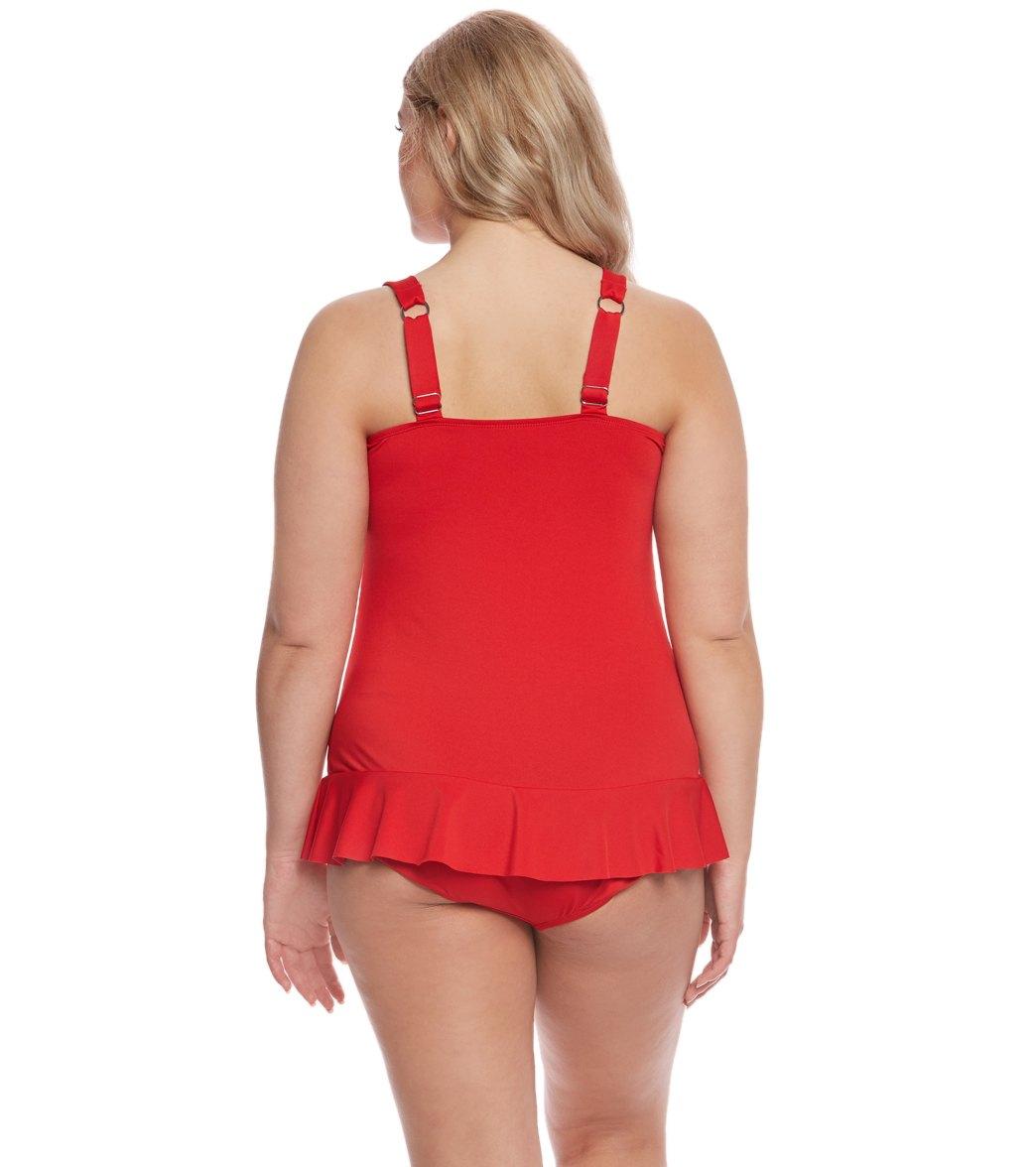 5a6f6bb16e4 Dolfin Aquashape Women s Plus Size Sweetheart Swim Dress at ...