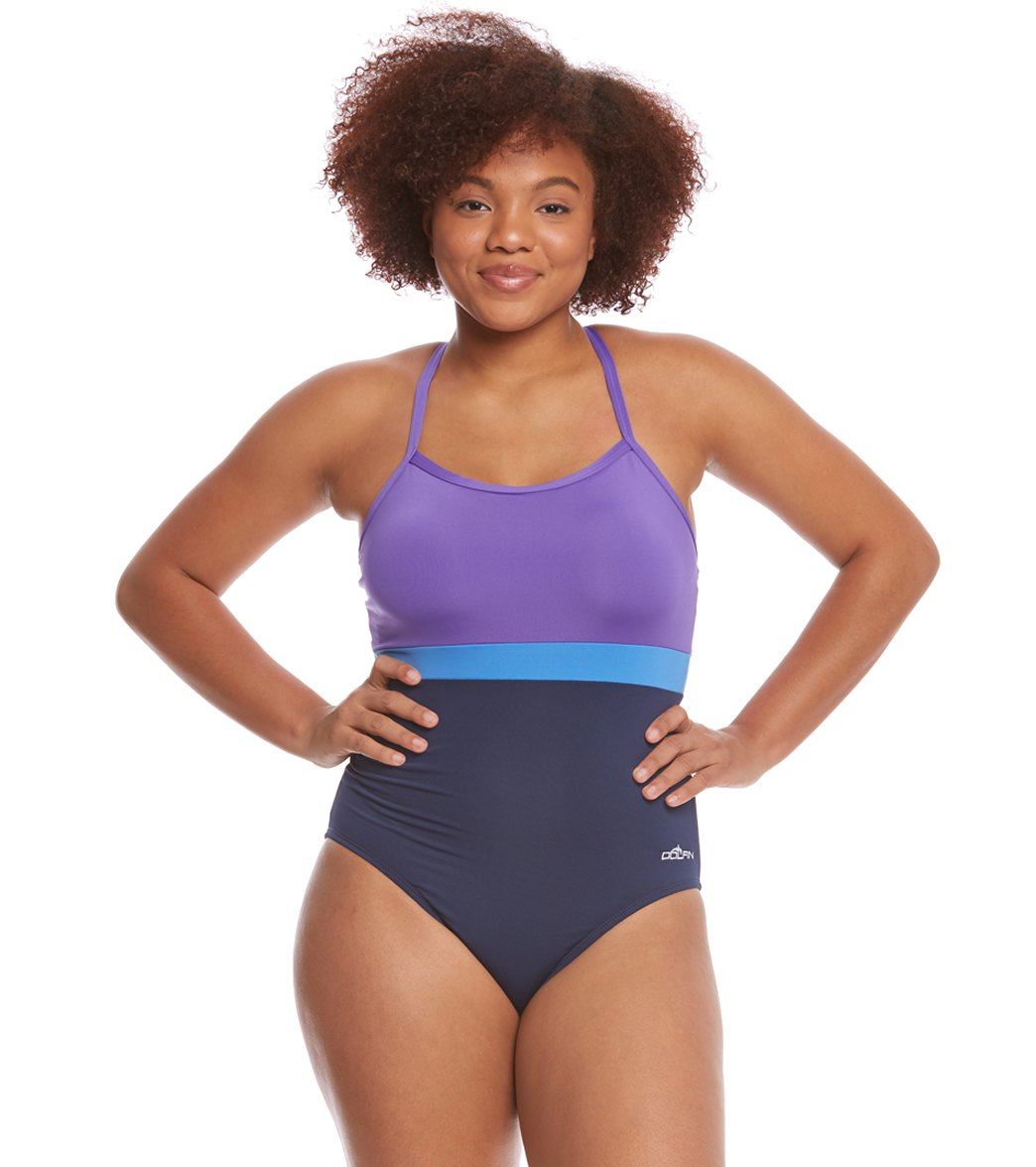 8cd9ab18b37 Dolfin Aquashape Women's Plus Size Cross Back One Piece Swimsuit at  SwimOutlet.com - Free Shipping