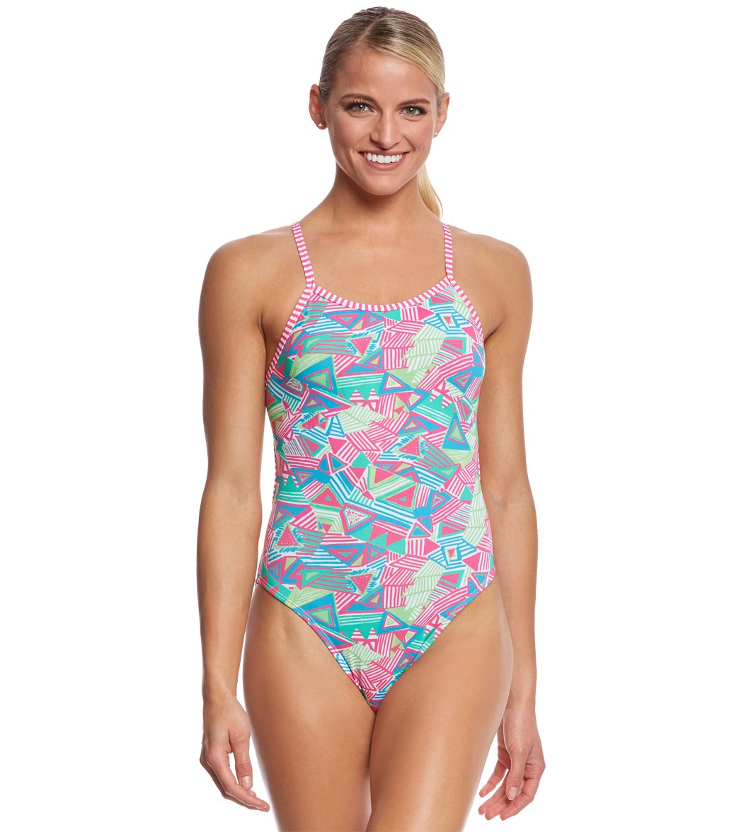 8afd87664fe46 ... Dolfin Uglies Women's Haywire String Back One Piece Swimsuit. Play  Video. MODEL MEASUREMENTS