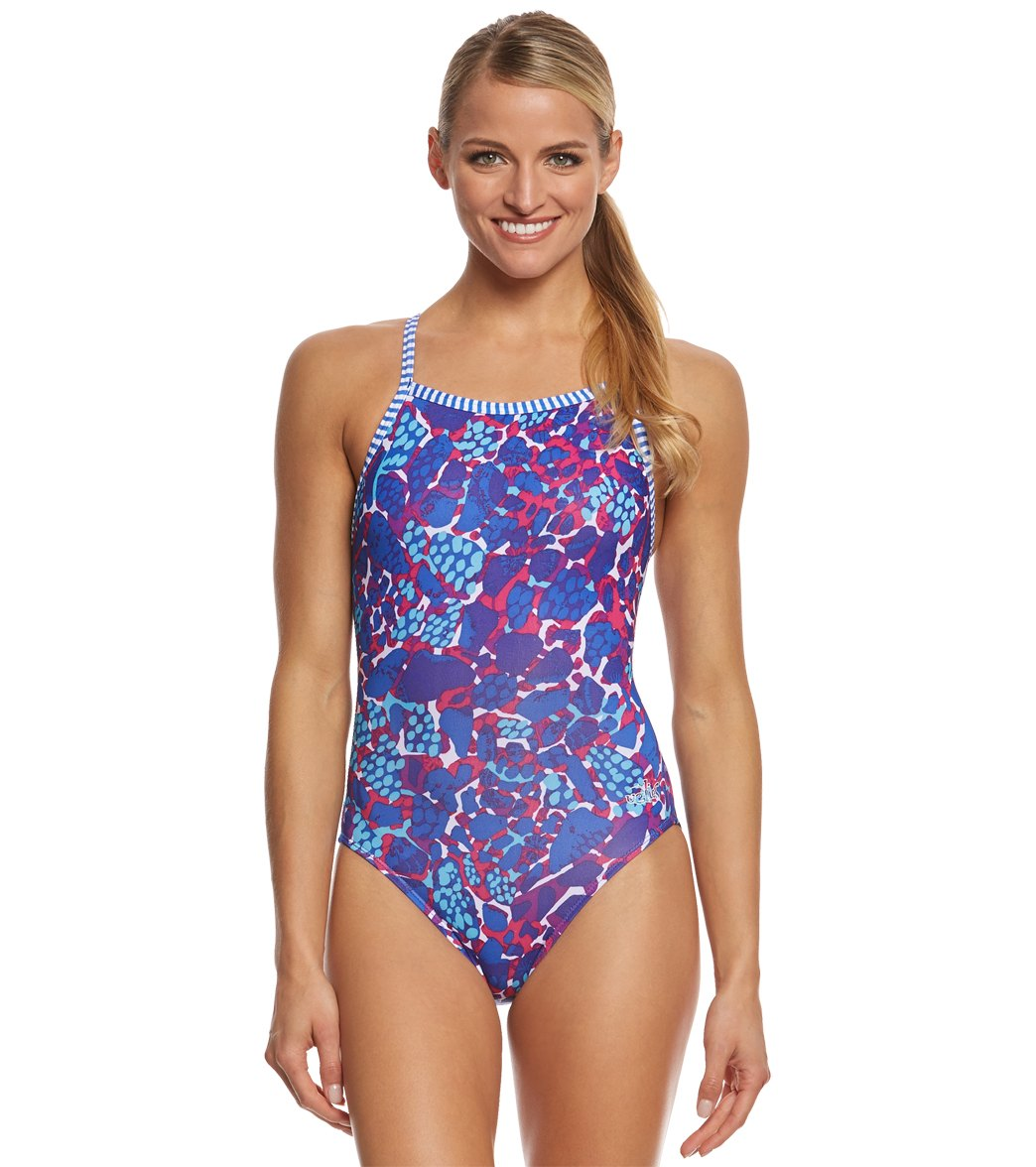 c765929946 Dolfin Uglies Women's Surfari V-2 Back One Piece Swimsuit at ...