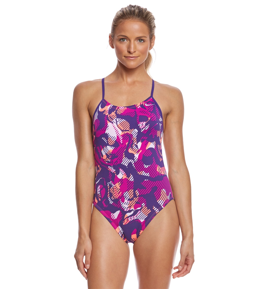 7851b92383 Nike Women s Floral Camo Cut-Out Tank One Piece Swimsuit at SwimOutlet.com  - Free Shipping