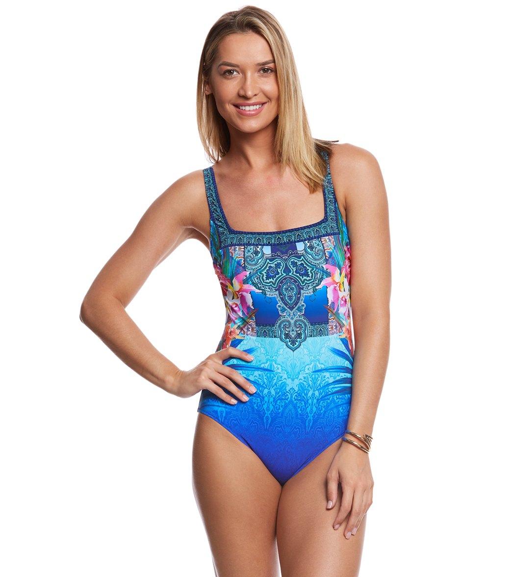 999270d7901d0f ... Gottex Oahu Square Neck One Piece Swimsuit. Play Video. MODEL  MEASUREMENTS