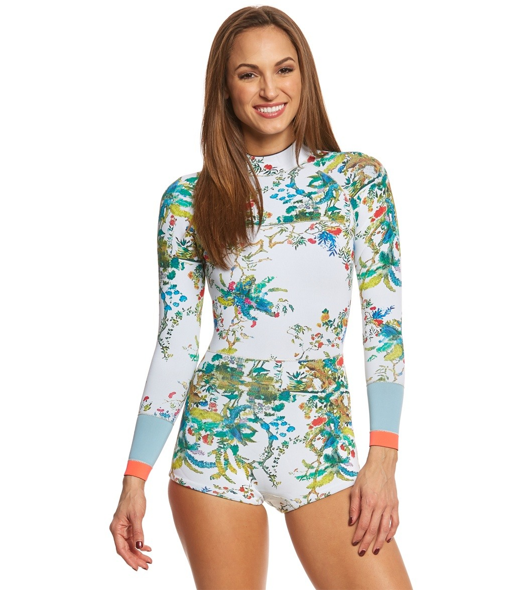 00647d3643 Cynthia Rowley Rainbow Vines Printed Wetsuit at SwimOutlet.com ...