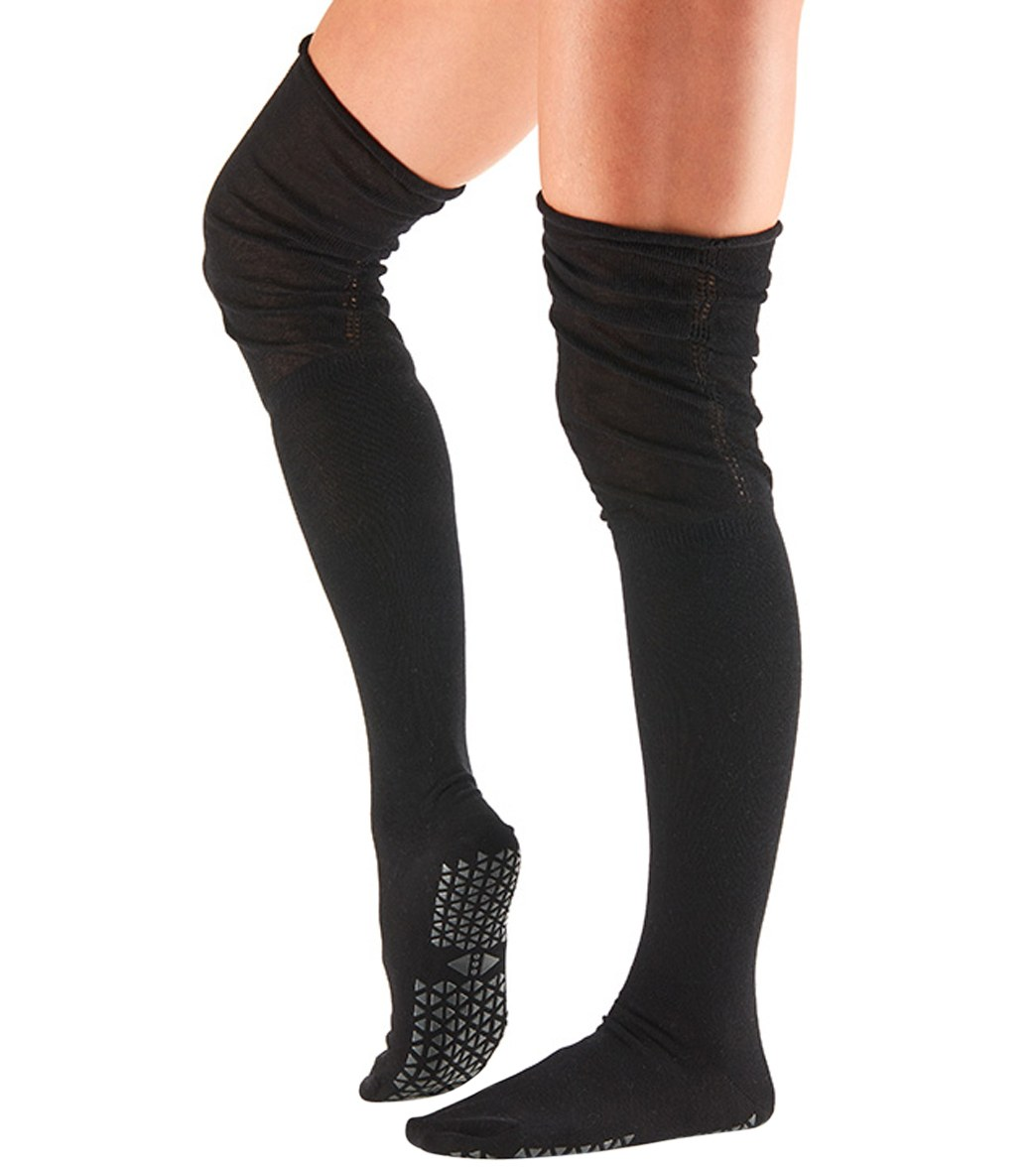 04ce9febbc9 Tavi Noir Charlie Thigh High Barre Grip Socks at YogaOutlet.com
