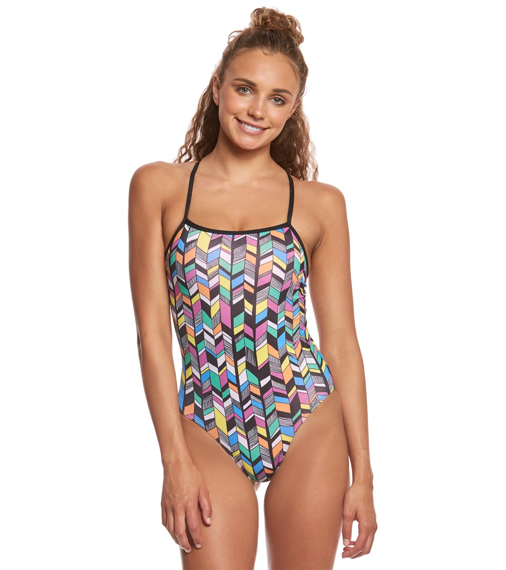 ab6f65863a177 Amanzi Women s Trellis One Piece Swimsuit at SwimOutlet.com - Free Shipping