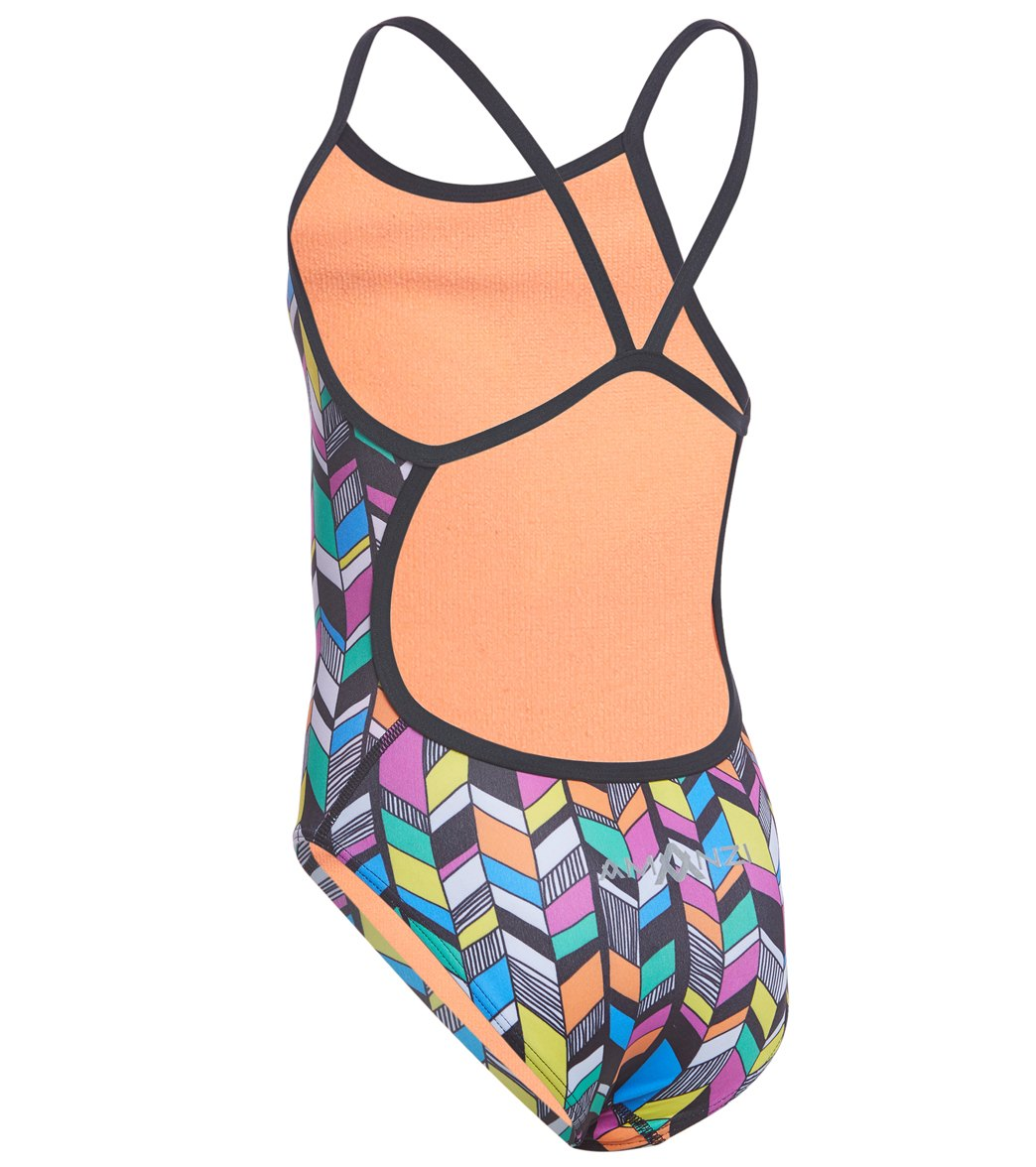 f159fd5c84b86 Amanzi Girls  Trellis One Piece Swimsuit at SwimOutlet.com - Free ...
