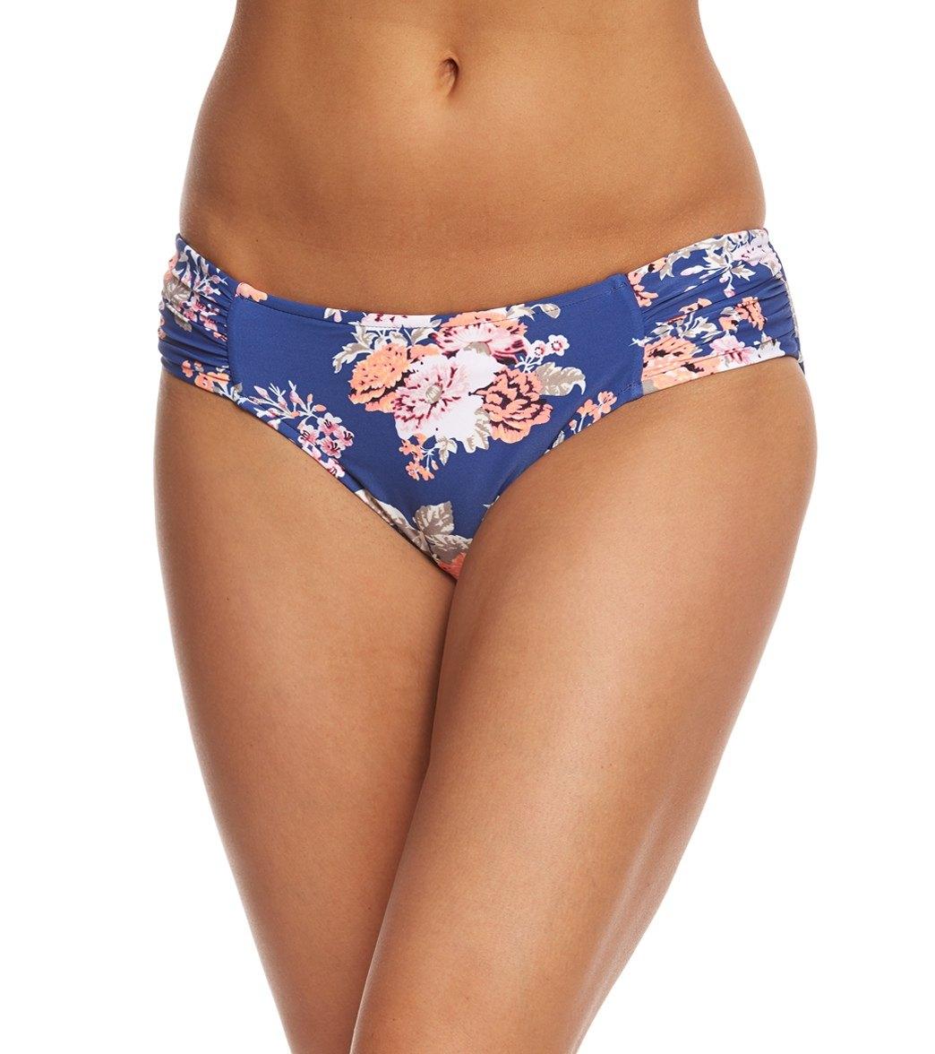 6a2e61044a Seafolly Vintage Wildflower Ruched Side Retro Bikini Bottom at ...