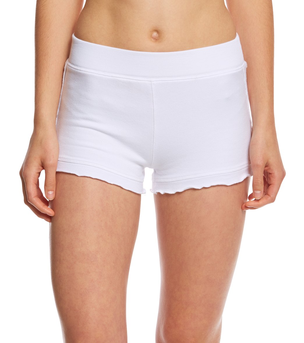 Free People Movement White Water Yoga Shorts At SwimOutlet.com