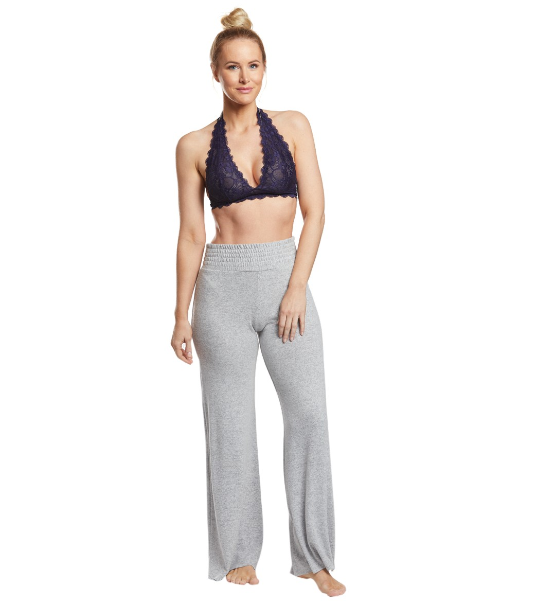 0443cafeb0fbc Free People Galloon Lace Halter Bra at YogaOutlet.com