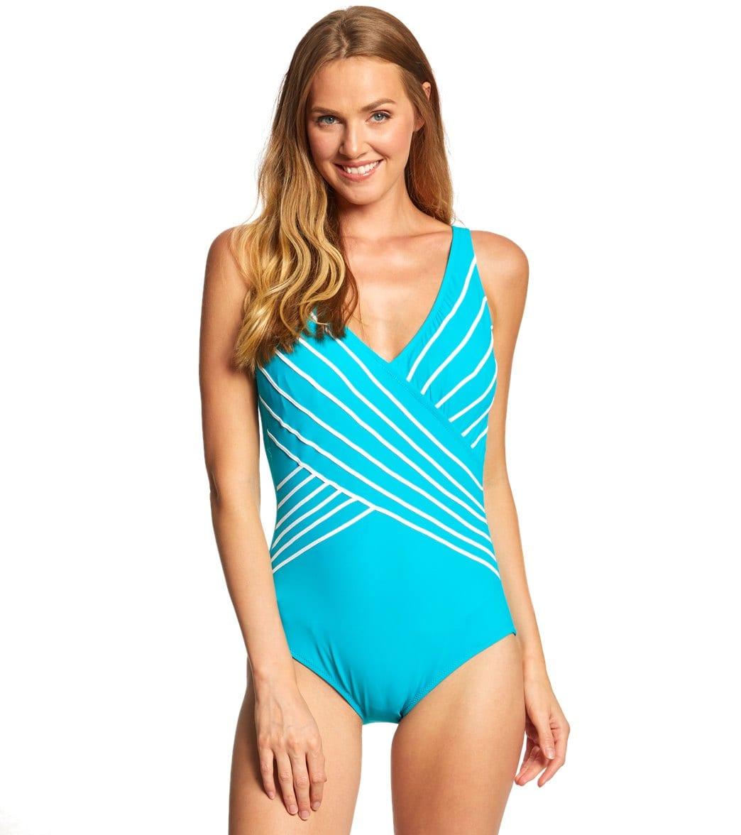 Gottex Embrace Surplice One Piece Swimsuit