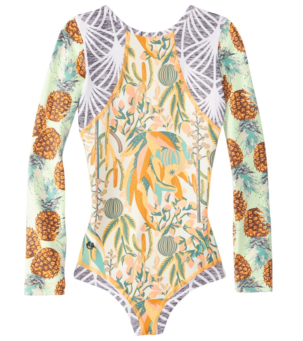 ac8d80566b1 Maaji Girls' Sunsand Long Sleeve One Piece Swimsuit (2T-16) at  SwimOutlet.com - Free Shipping
