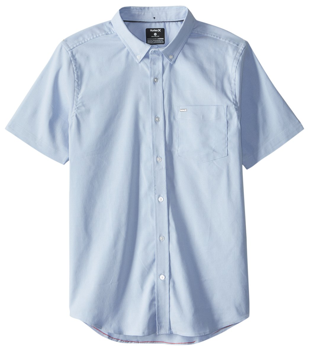 ed4b02d94f Hurley Men's Dri-Fit One & Only Short Sleeve Woven Shirt