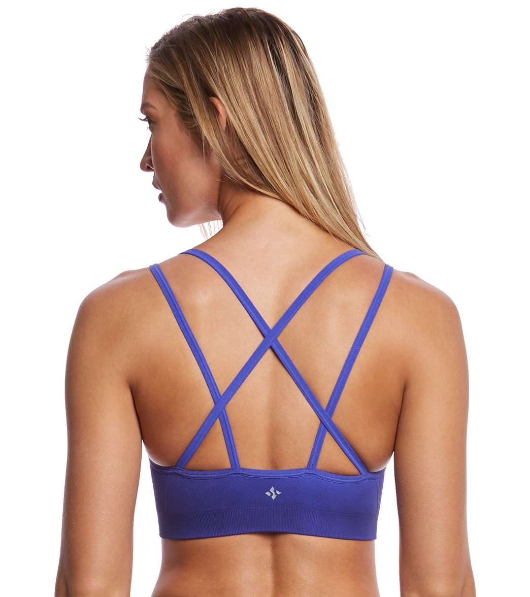 e215ae53aa5db NUX Ombre Strappy Seamless Yoga Sports Bra at YogaOutlet.com - Free ...