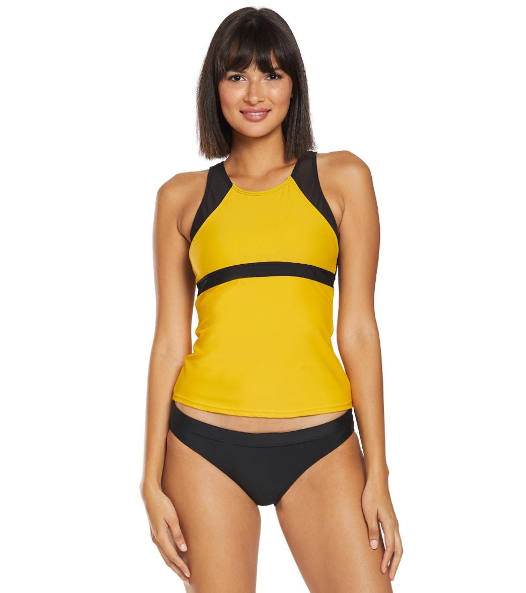 5d8e1514f7 Sporti Active High Neck Tankini Top at SwimOutlet.com