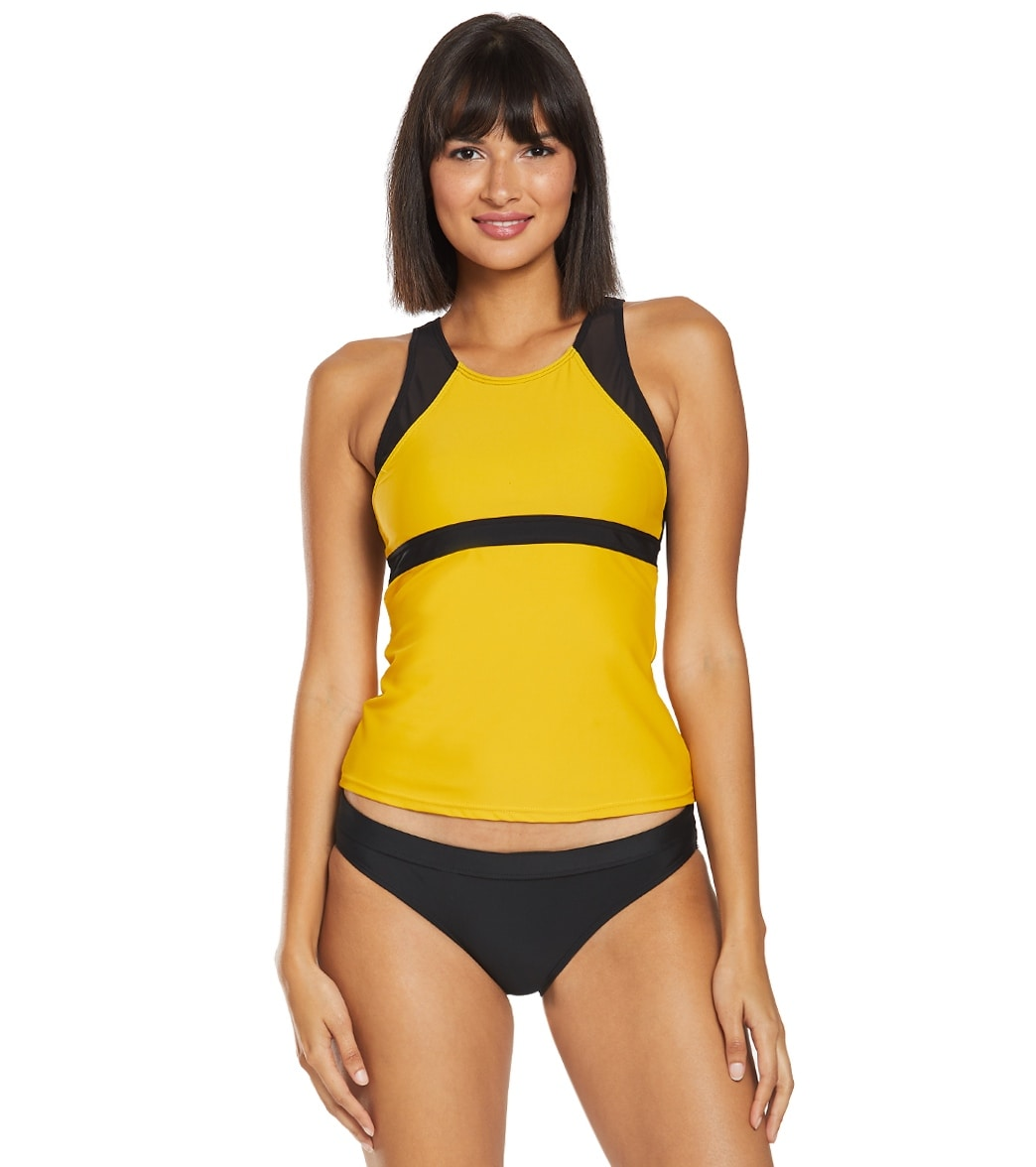 38146facf4e6 Sporti Active High Neck Tankini Top at SwimOutlet.com