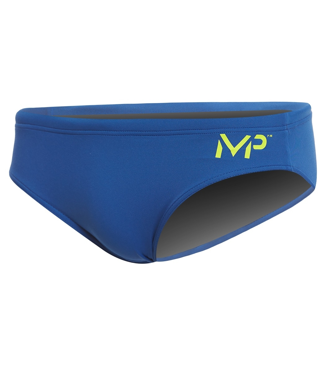 86e8437bc4 MP Michael Phelps Men's Solid Brief Swimsuit at SwimOutlet.com