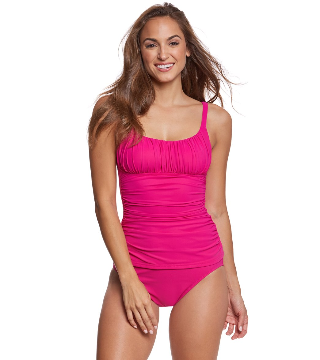 57aa0f69513ce Profile by Gottex Tutti Fruitti Ruched Tankini Top at SwimOutlet.com - Free  Shipping