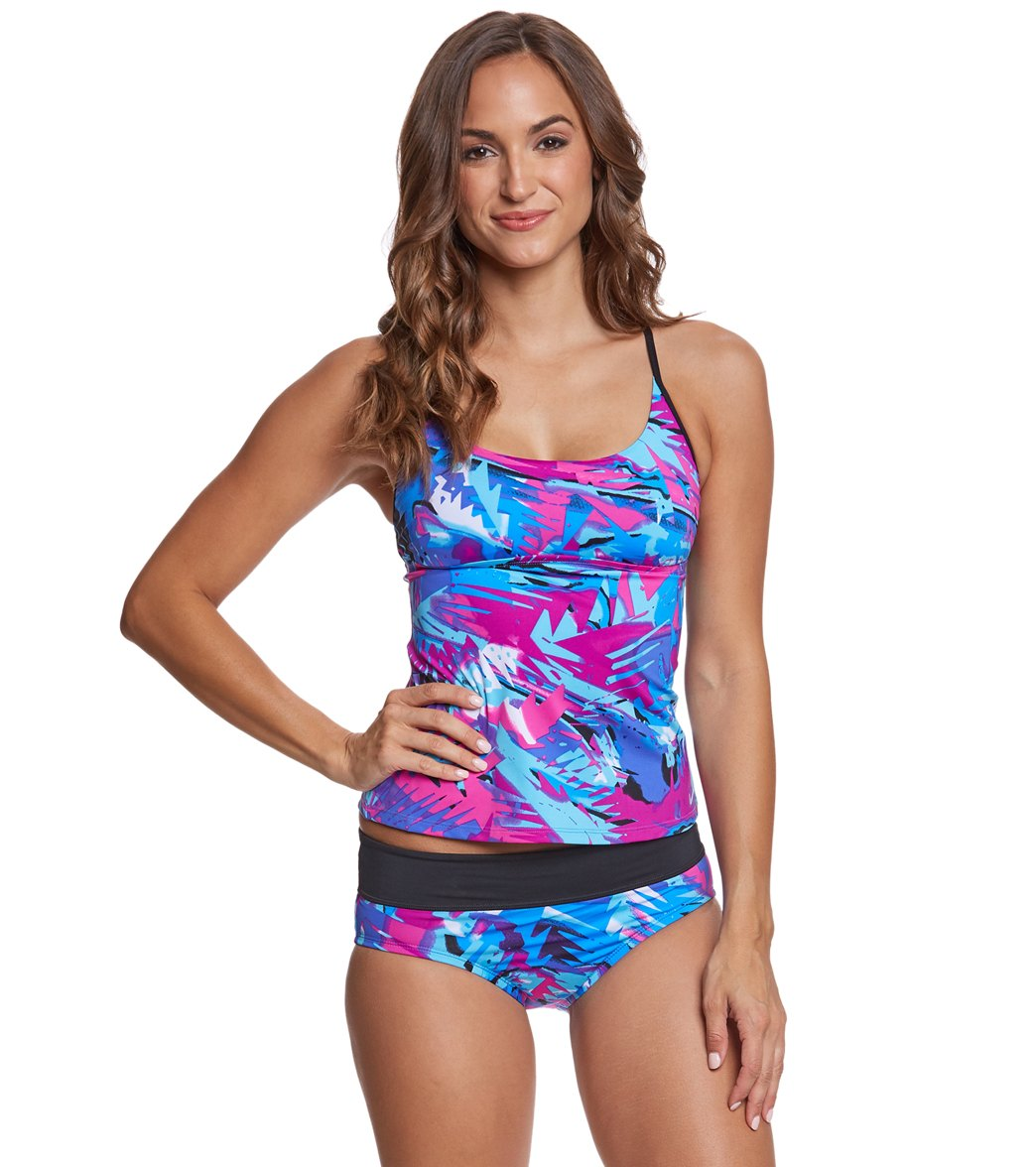 ceadcecad16c9 ... Nike Tropic Crossback Tankini Top. Play Video. MODEL MEASUREMENTS