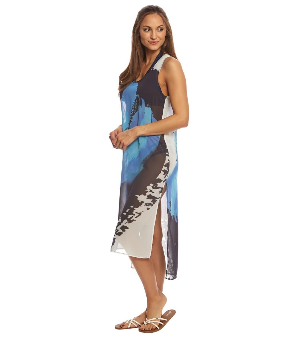 3b0dcb8360617 Rappi Brush Stroke Tank Dress at SwimOutlet.com - Free Shipping