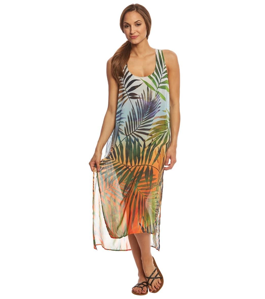 fd937e2ea0f22 Rappi Sunset Palms Vivid Tank Dress at SwimOutlet.com - Free Shipping