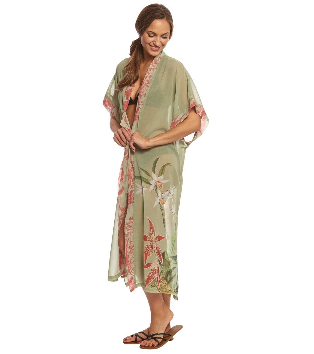aad4a4f8551ac Rappi Retro Hawaiian Kimono at SwimOutlet.com - Free Shipping