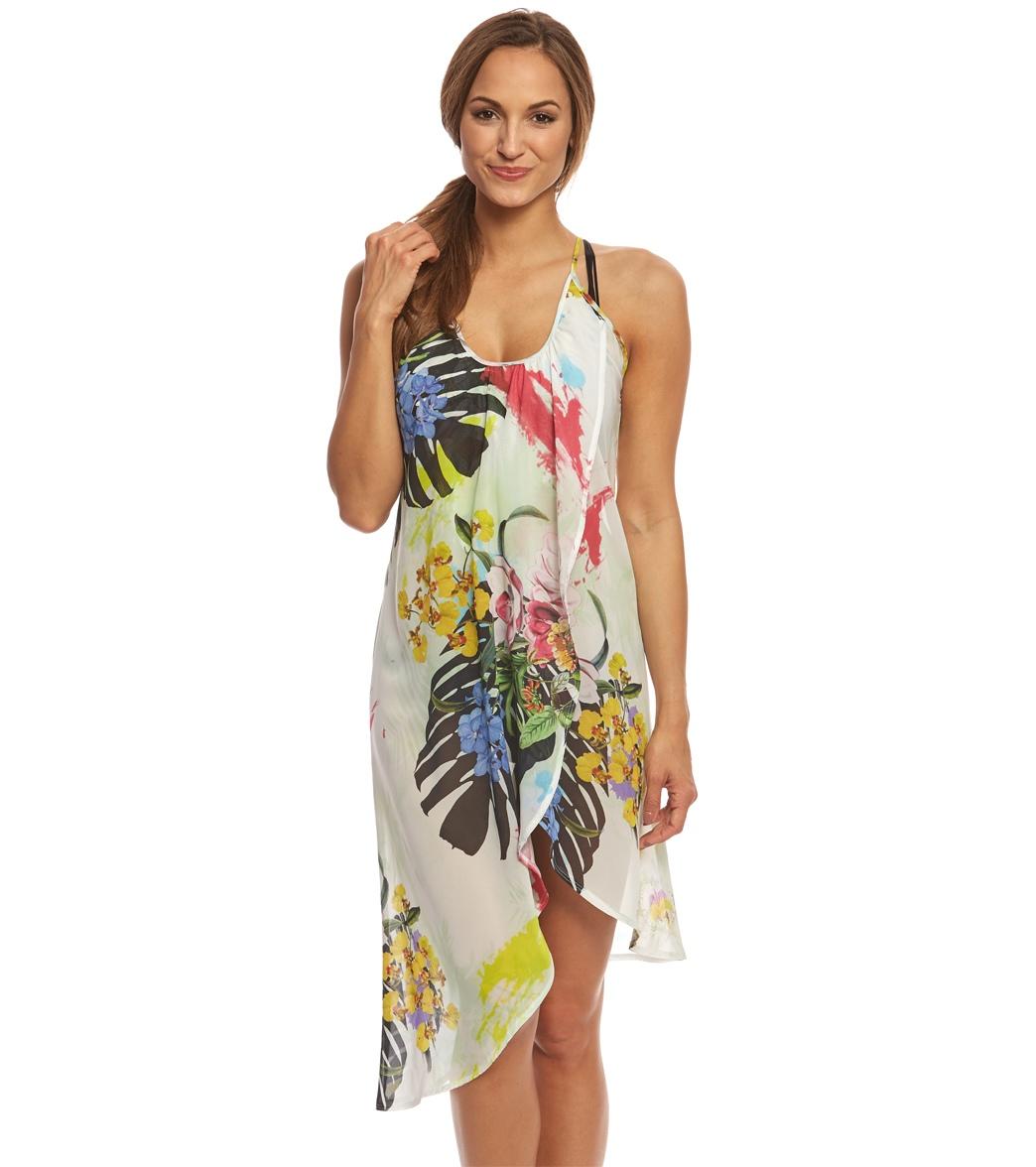 6172b04045493 ... Rappi Silhouette Tropical Wrap Dress. Play Video. MODEL MEASUREMENTS