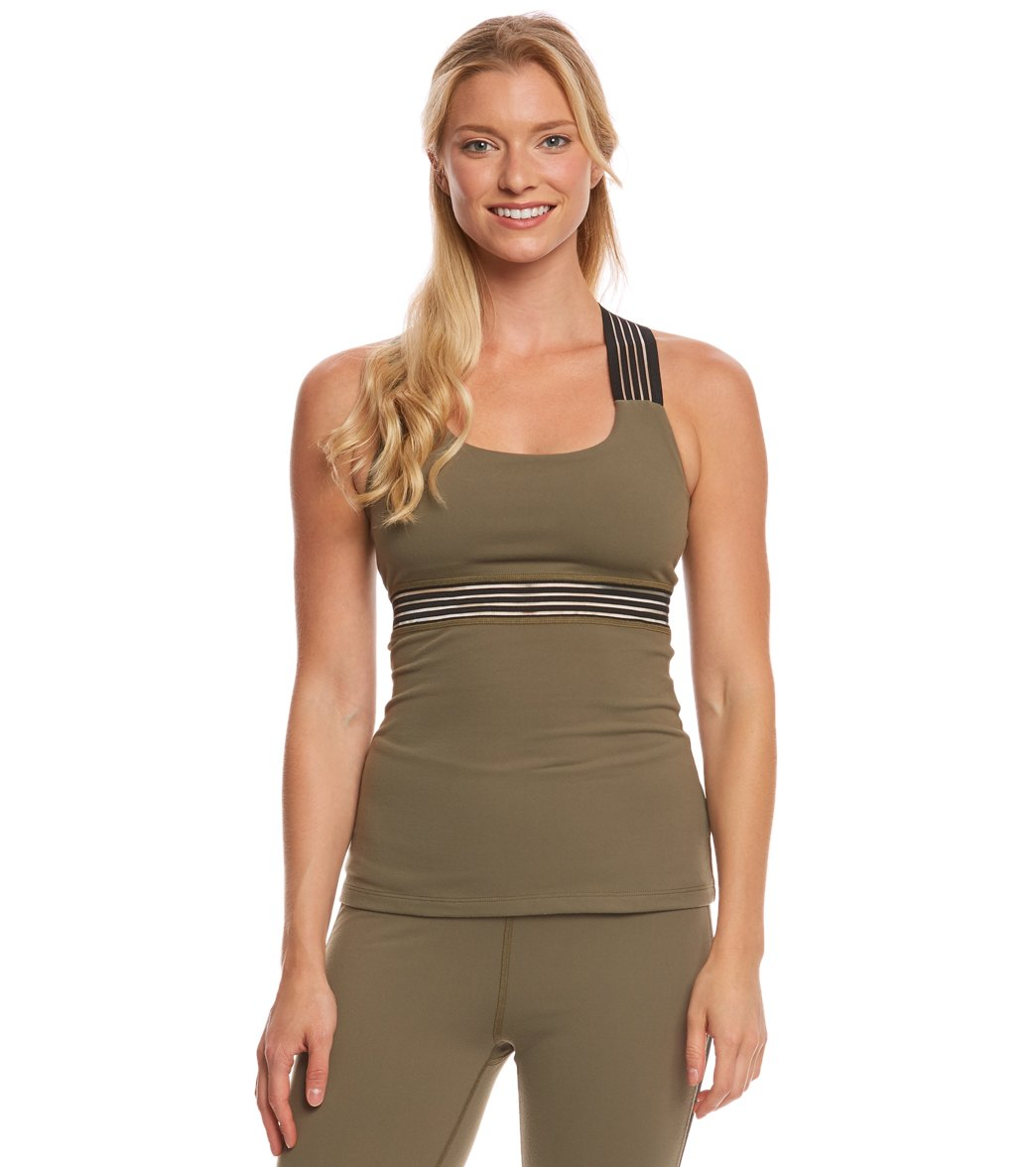 Open Back Tank in Green. - size M (also in L,S,XS) Beyond Yoga