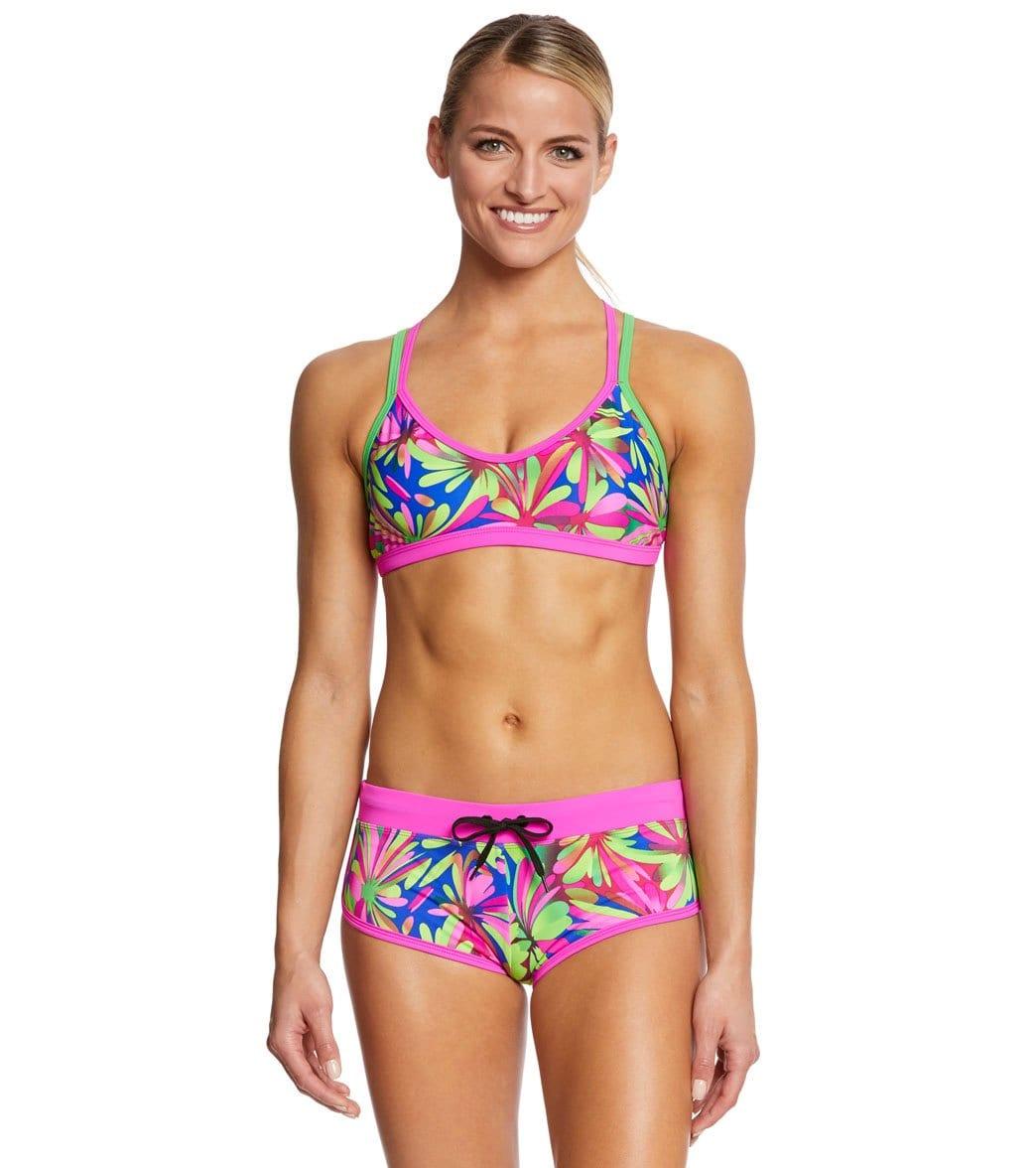 659a197e4bc Waterpro Women's Pom Poms Double Strap Bikini Set at SwimOutlet.com