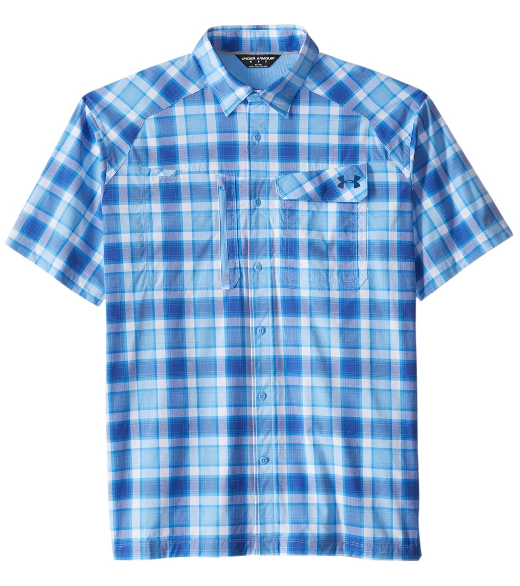 b58cdcc7d8 Under Armour Men's Fish Hunter Plaid Short Sleeve Shirt
