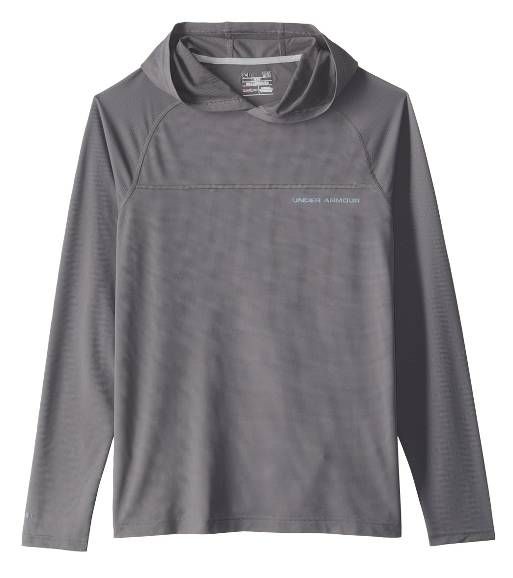 d1180a074e Under Armour Men's Sunblock Long Sleeve Rashguard Hoodie