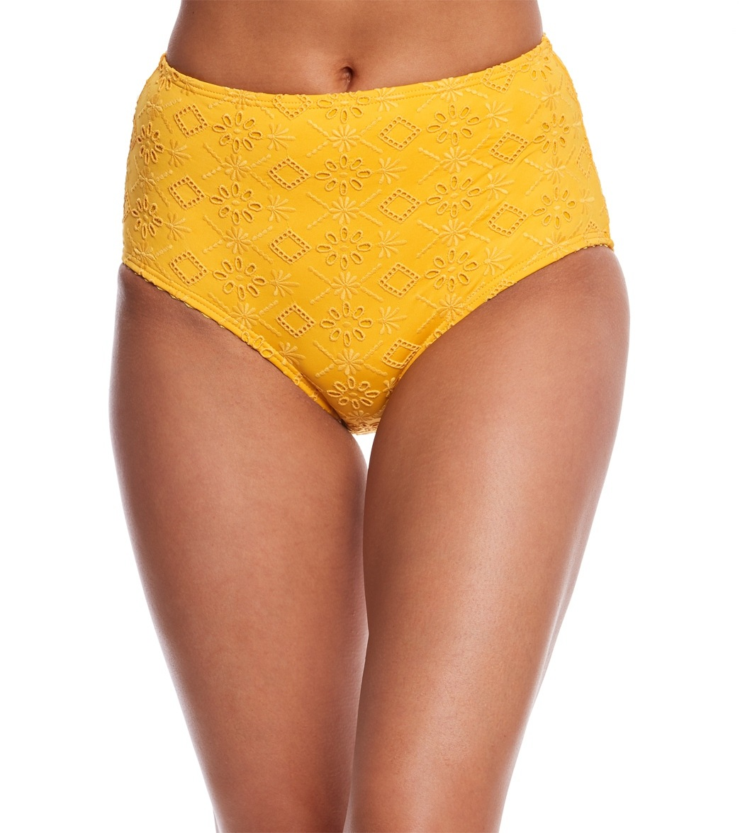 789f3116fe ... Kate Spade New York Embroidered High Waisted Bikini Bottom. Play Video.  MODEL MEASUREMENTS