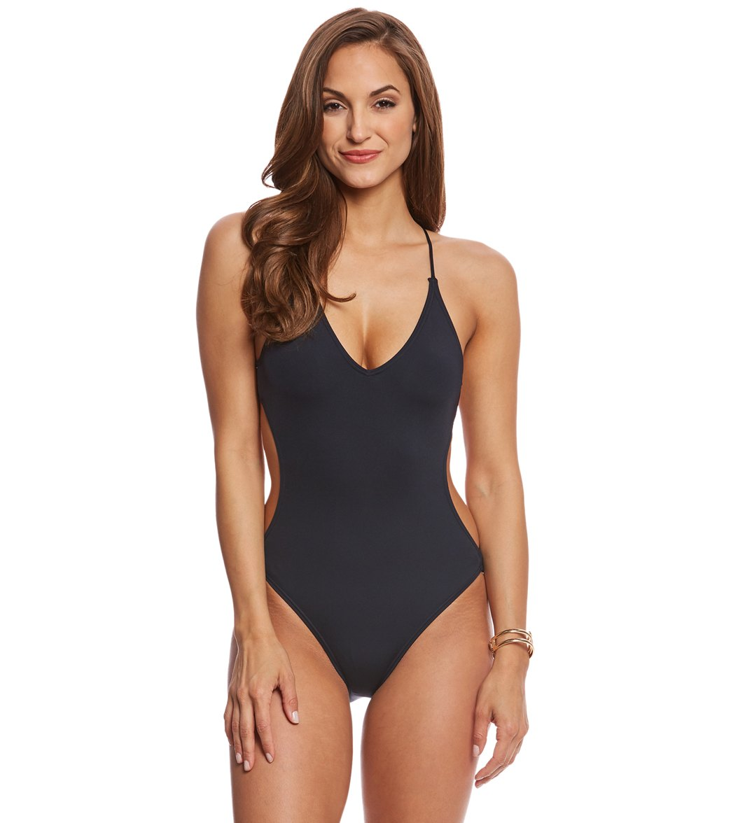 cc64cb9819b ... Plunge Strappy Back One Piece Swimsuit. Play Video. MODEL MEASUREMENTS