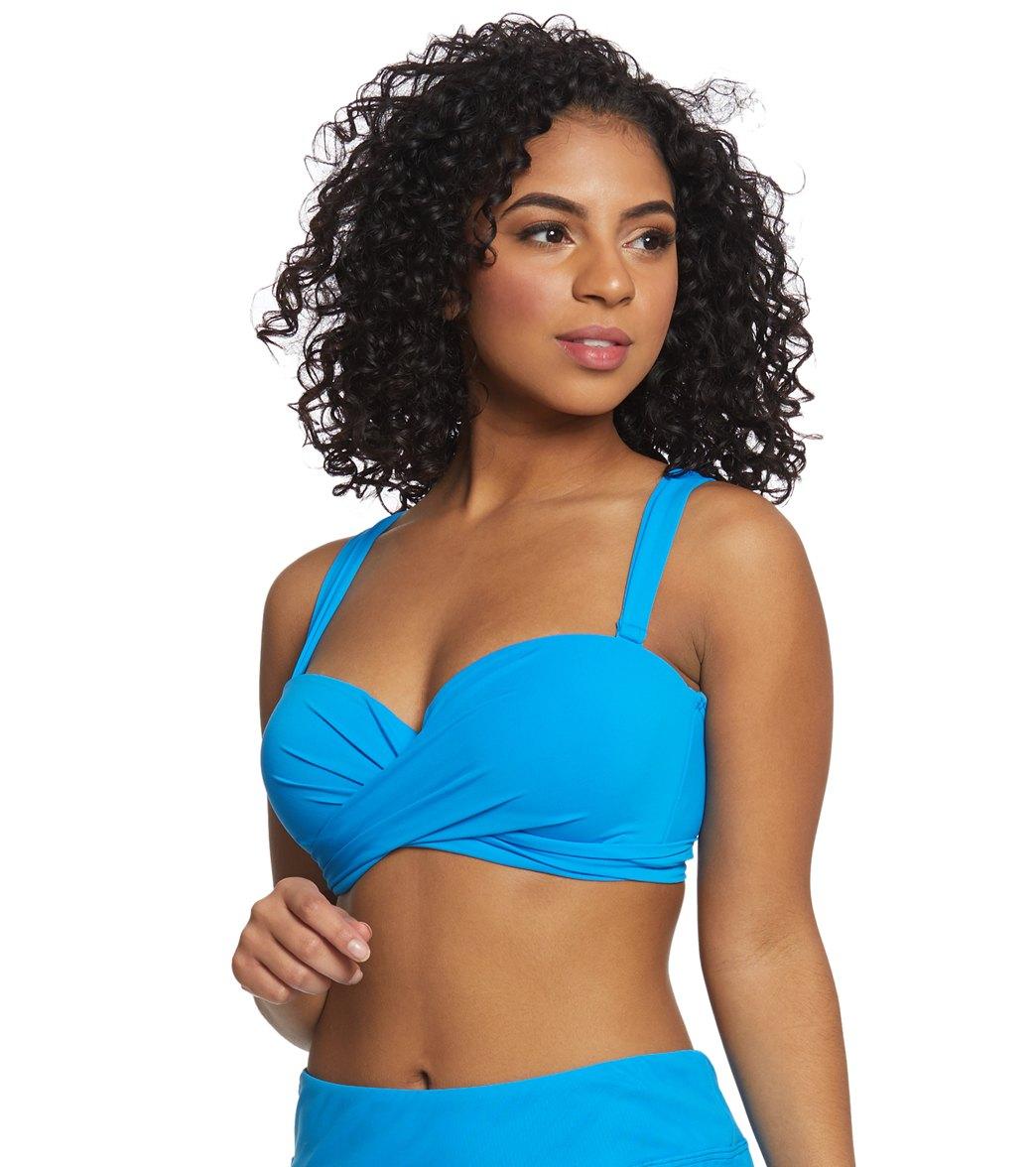 2403662fd9ab0 Coco Reef Classic Solid Five Way Convertible Bikini Top (C/D/DD Cup ...