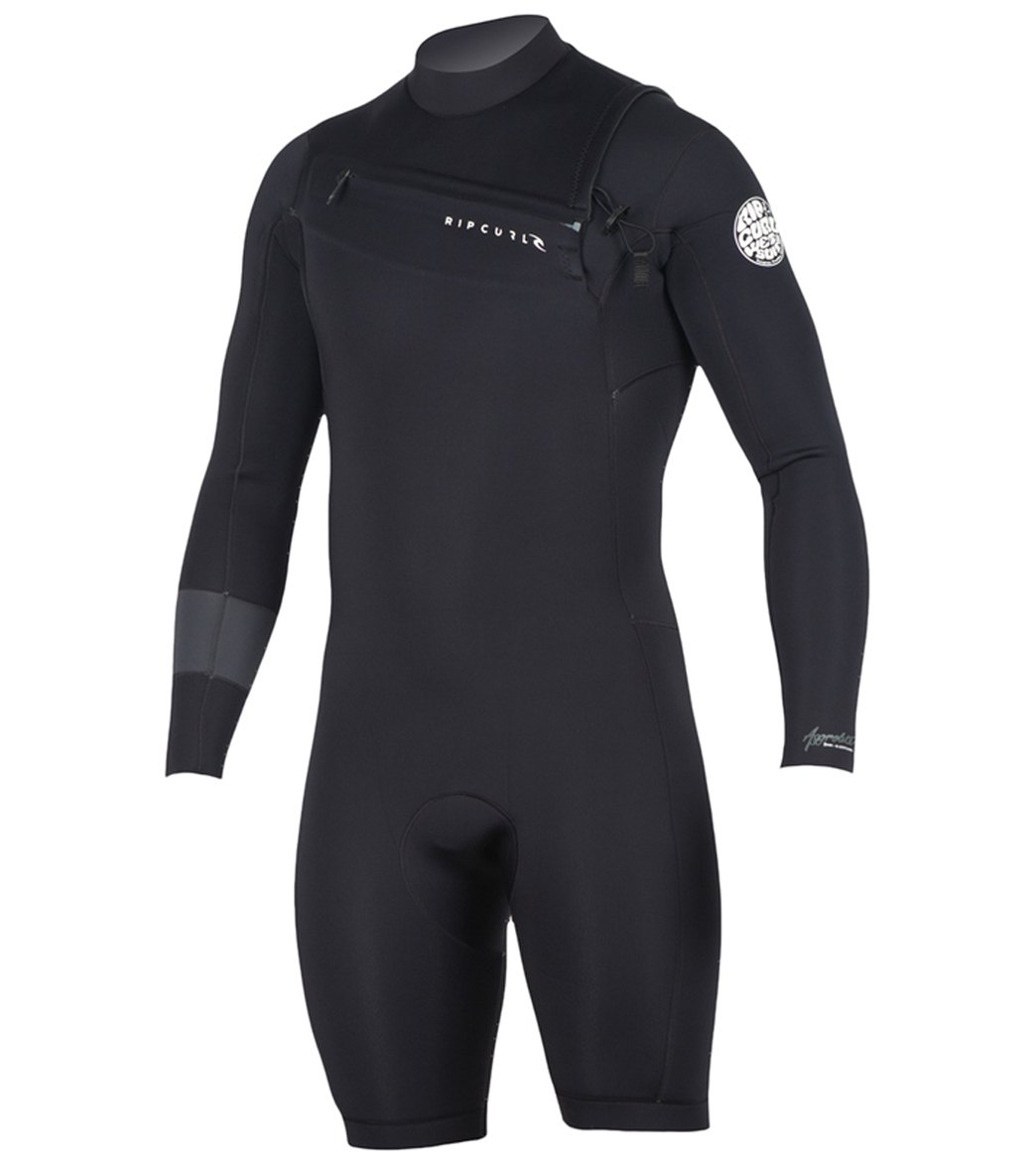 960211a7b611 Rip Curl Men s 2 2mm Aggrolite Long Sleeve Chest Zip Spring Suit Wetsuit