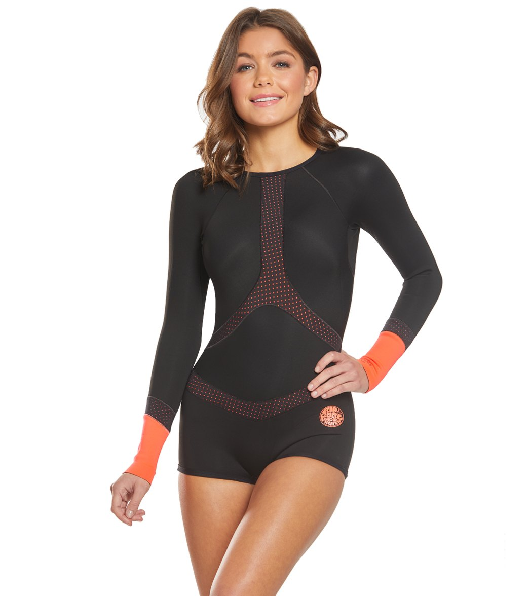 b14e67f6a5e9 Rip Curl Women s 1mm G-Bomb Madison Long Sleeve Boyleg Spring Suit Wetsuit  at SwimOutlet.com - Free Shipping