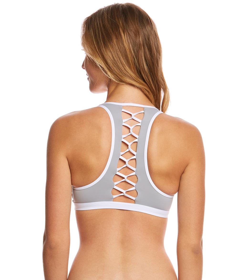 45e64963549 L-Space Swimwear Color Block Skylar Bikini Top at SwimOutlet.com ...