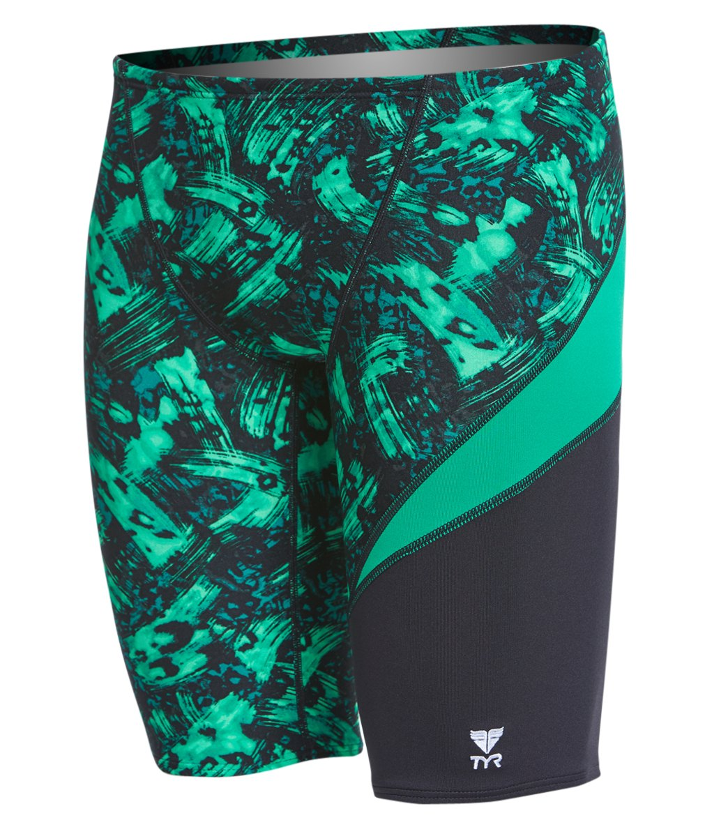 7ae5ce0be4b TYR Men's Emulsion Wave Jammer Swimsuit at SwimOutlet.com