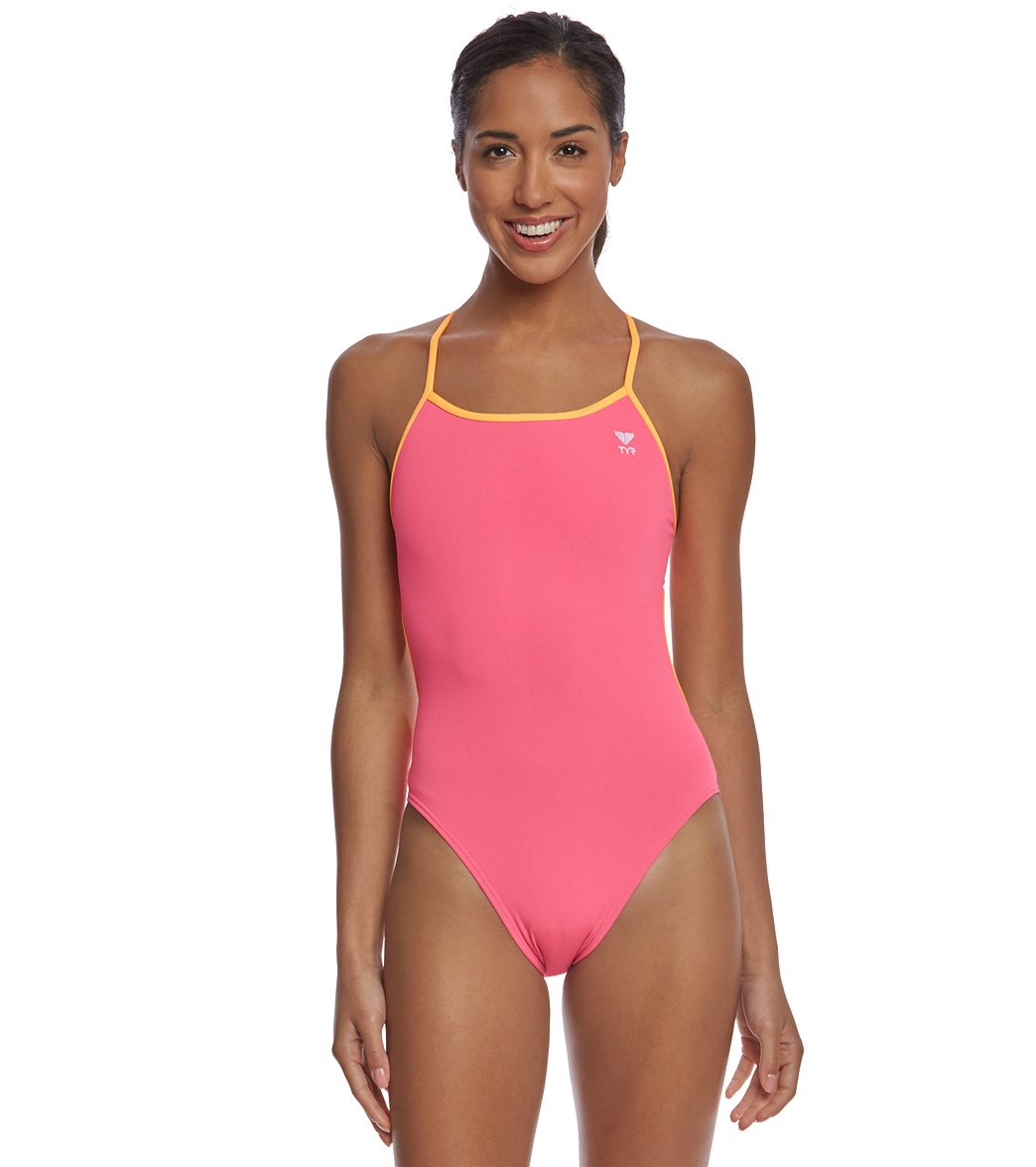 33e5390fa0 TYR Women's Solid Trinityfit One Piece Swimsuit at SwimOutlet.com - Free  Shipping
