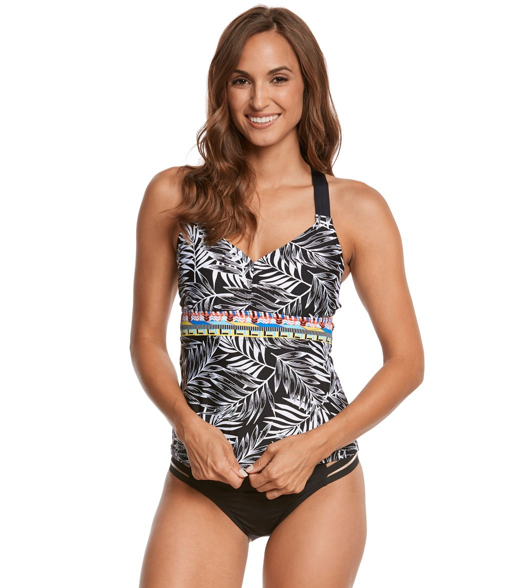 1fb4c380aa745 Jag Tropical Palm Underwire Tankini Top (D DD-Cup) at SwimOutlet ...