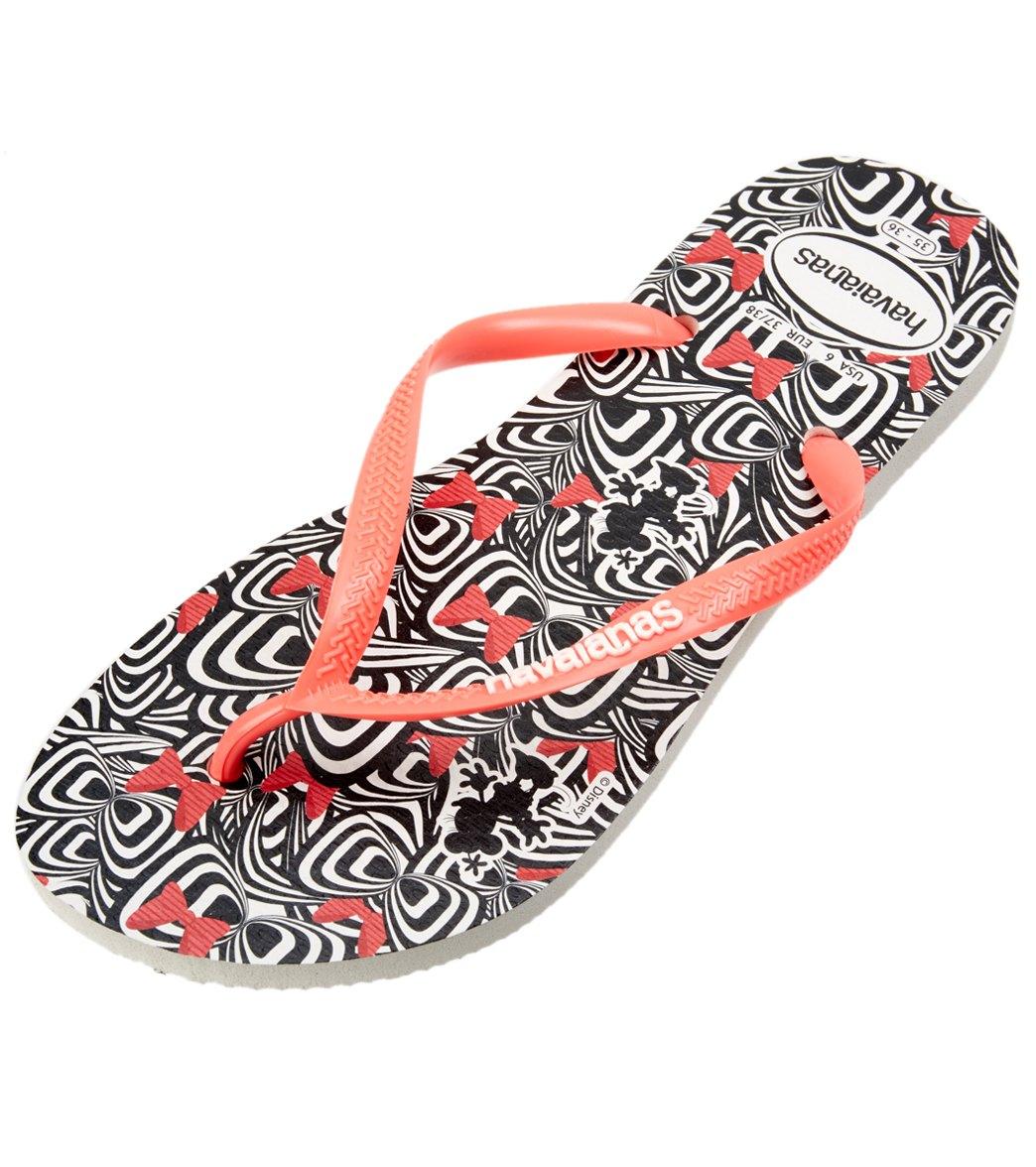 e4cc35c710d2a Havaianas Women s Slim Millennial Minnie Flip Flop at SwimOutlet.com