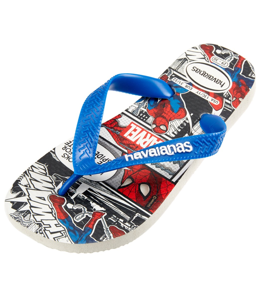 dc430638f35437 Havaianas Marvel Top Spiderman Flip Flop at SwimOutlet.com