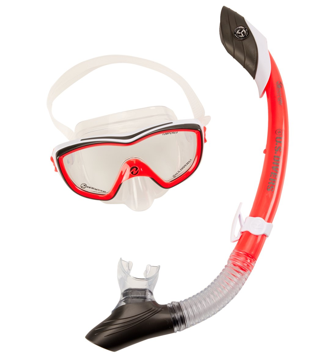U.S. Divers Women s Diva II LX Mask and Island Dry Snorkel Set at ... 03a0d56077