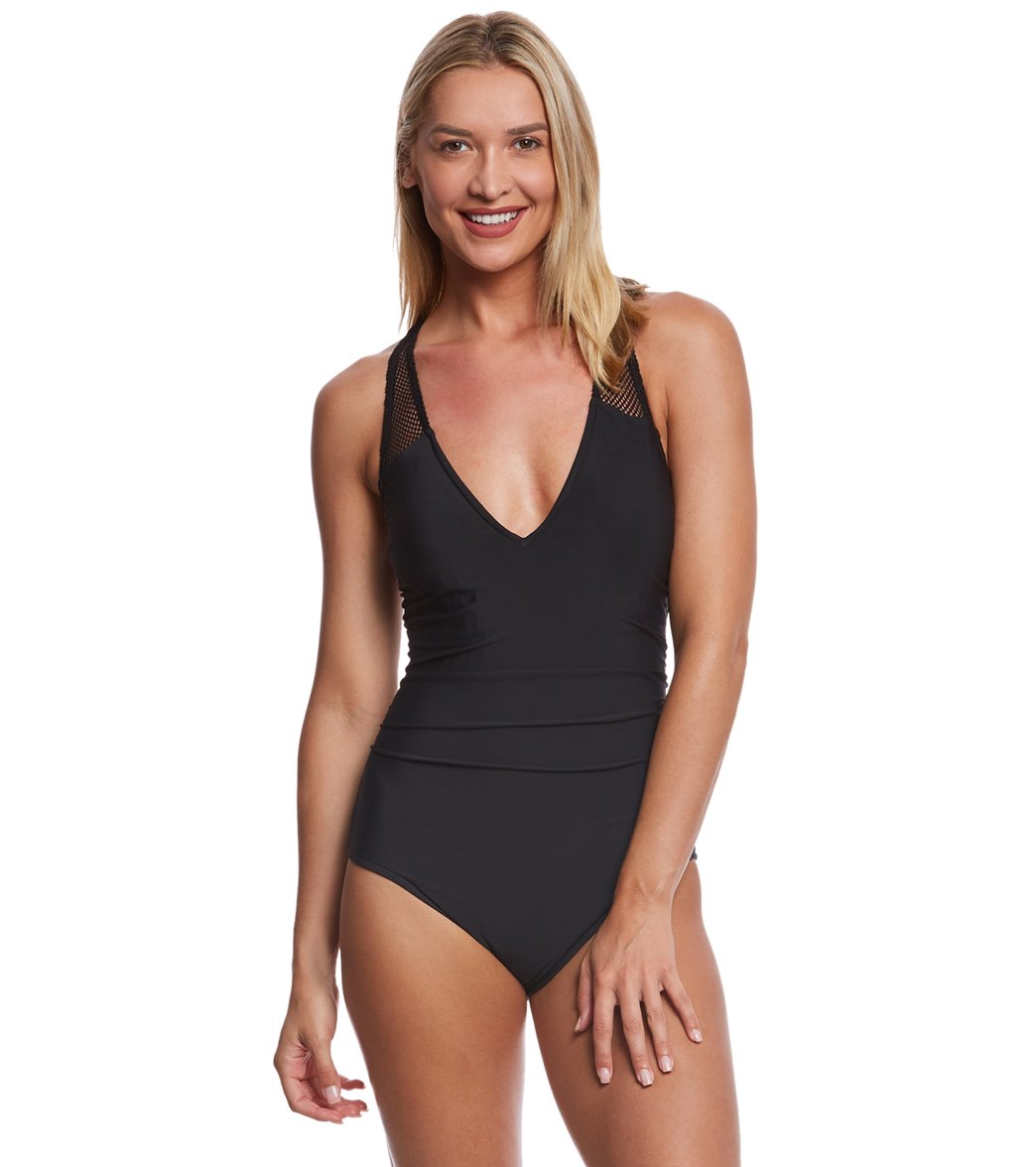 cc919bed90f42 Magicsuit by Miraclesuit Solid Trinity One Piece Swimsuit at SwimOutlet.com  - Free Shipping