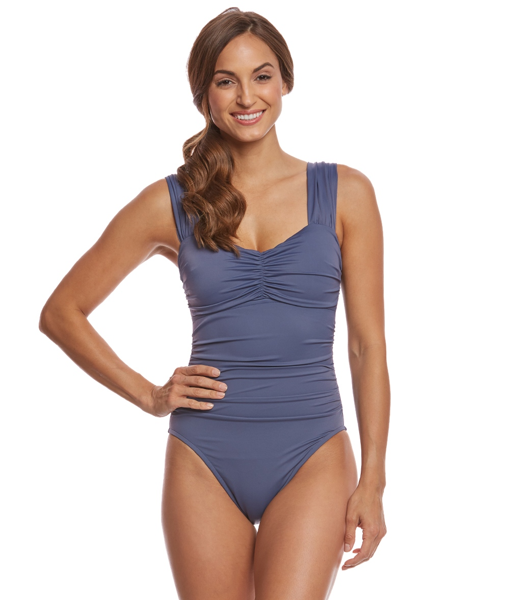 d8248df3ce1c8 Magicsuit by Miraclesuit Solid Natalie One Piece Swimsuit at SwimOutlet.com  - Free Shipping