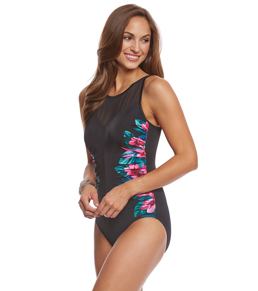 119a3096f80 Miraclesuit Tahitian Temptress Fascination Underwire One Piece Swimsuit