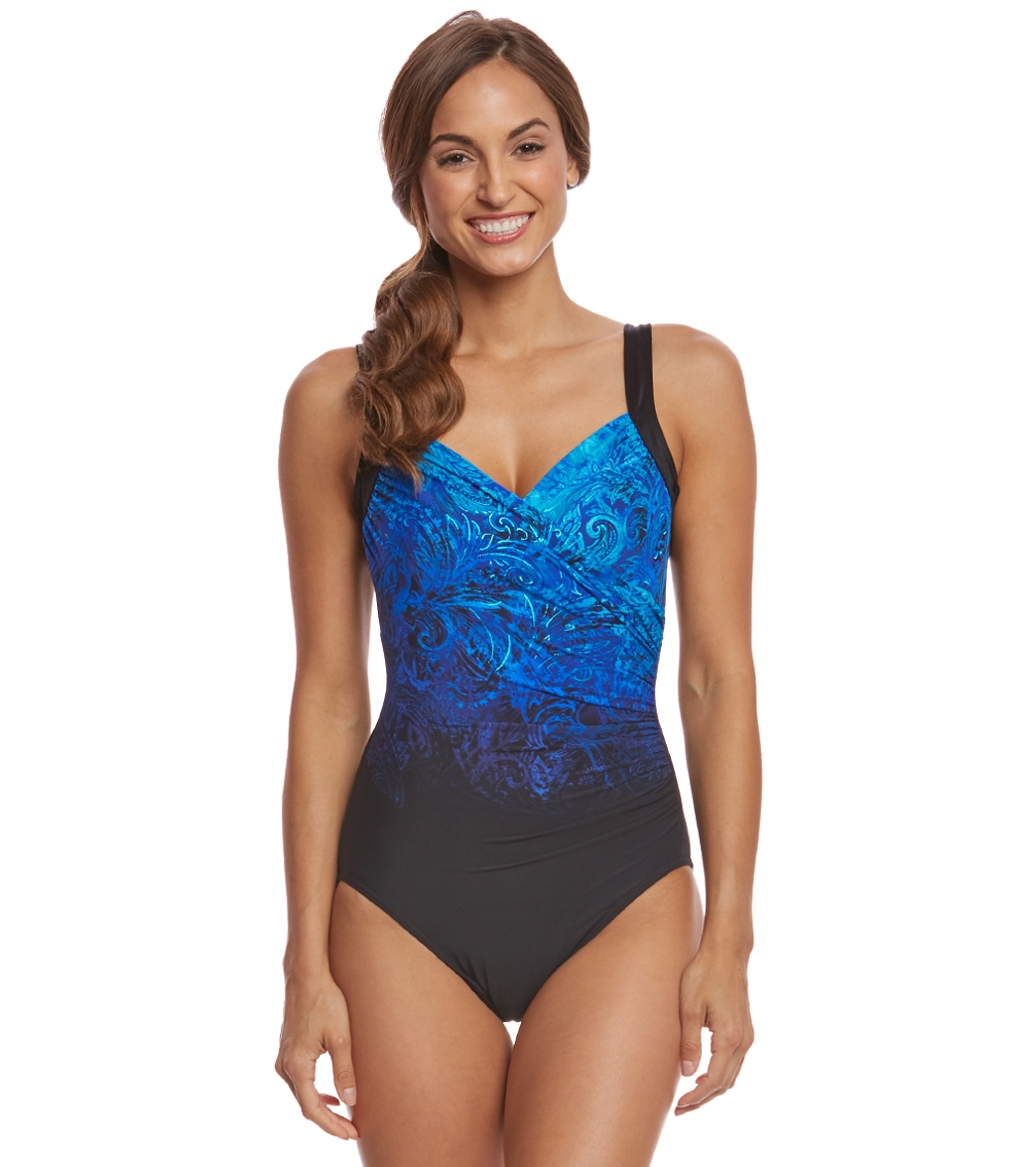 6ea66bf3d1 Miraclesuit Mediterra Sanibel Underwire One Piece Swimsuit at ...