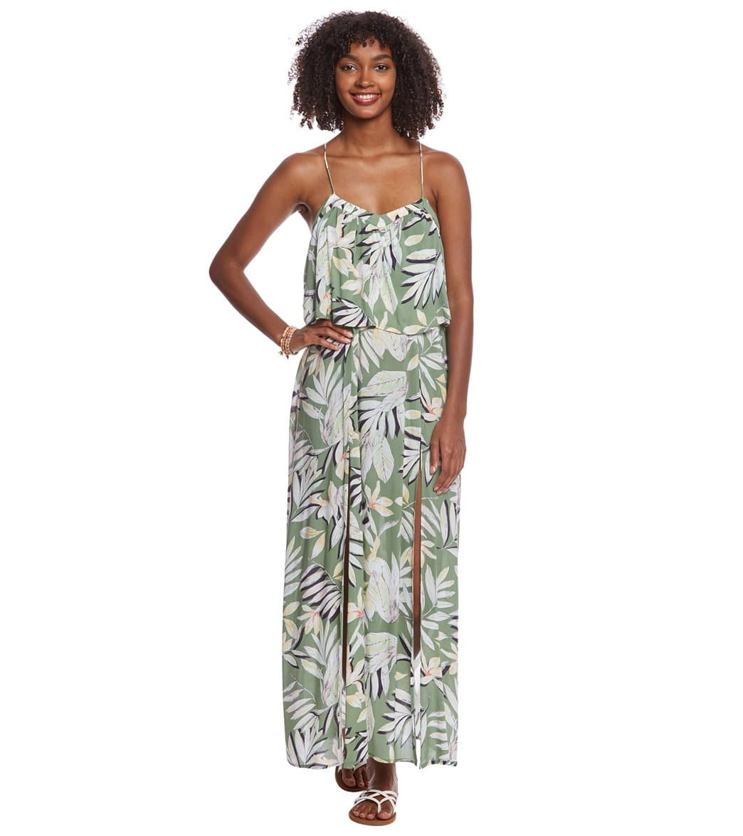 e4cfb0a92b4 MINKPINK Shady Fronds Maxi Dress at SwimOutlet.com - Free Shipping