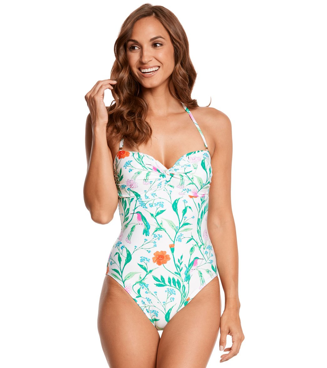 80ca574bbe Kate Spade New York Marina Beach Twist One Piece Swimsuit at ...